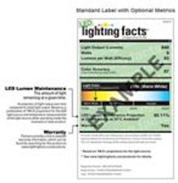 DOE adds warranty, lumen maintenance to Lighting Facts label