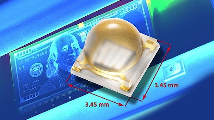 Vishay's ceramic-based, high-power UV LED delivers long lifetime in 365-nm wavelength range