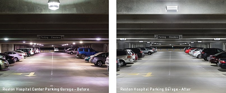 Reston Hospital retrofits parking facility with Cree LED fixtures and controls