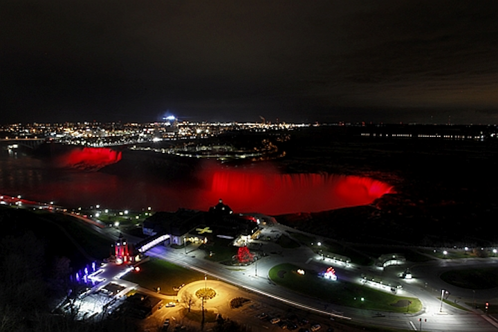 Landmark Niagara Falls get dynamic RGB LED lighting upgrade