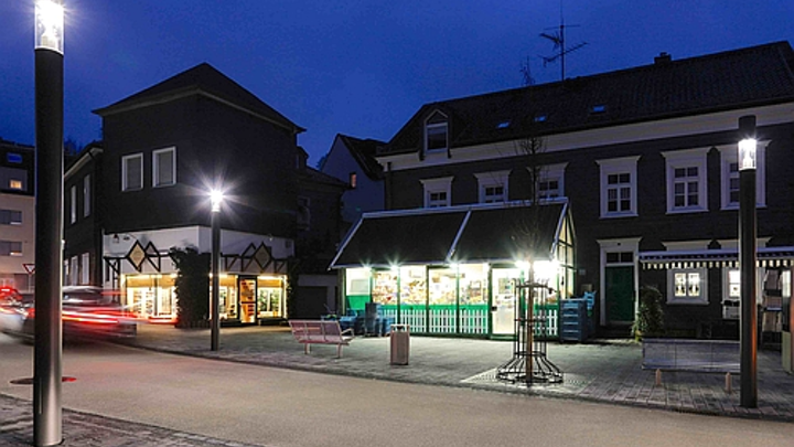 German town taps Bluetooth-enabled outdoor LED luminaires to transmit information about what's happening
