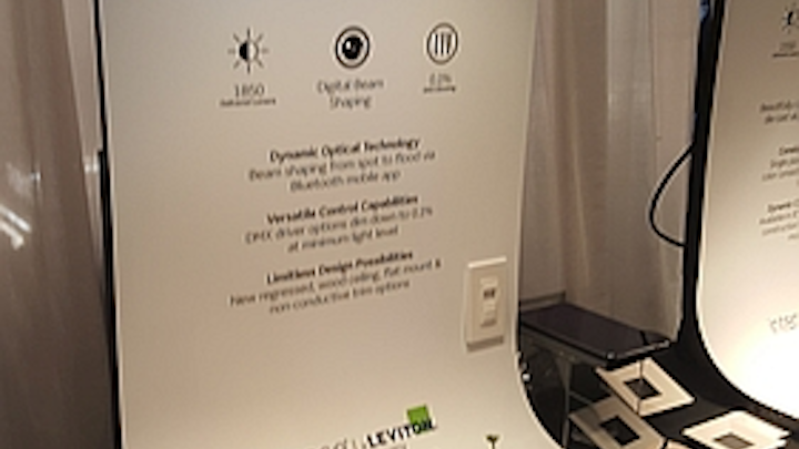 Intense shows LED downlight with liquid-crystal lens at LEDucation