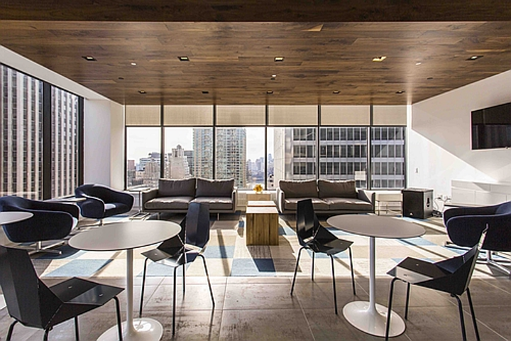 Organic Response's IoT technology might stay more independent if a non-lighting company acquires it. Above, the New York City offices of financial firm Dixon Advisory, lit by a combination of GE lighting and Organic Response sensors and controls.