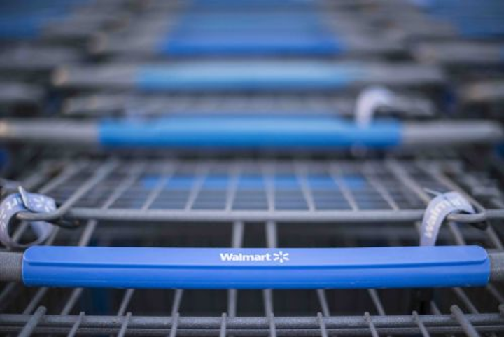 By tracking shopping cart movement around a store, retailers can get a better understanding of customer behavior. Acuity did not reveal the names of users of its new asset tracking system. The company is believed to already be working with Walmart and Target on people-oriented indoor-positioning services. (Photo credit: Walmart.)