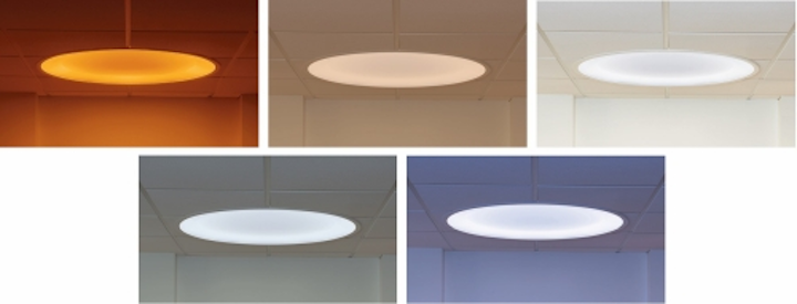 The Symmetry LED luminaire from Visa Lighting offers tunable lighting capability for use in human-centric lighting applications such as healthcare and education.