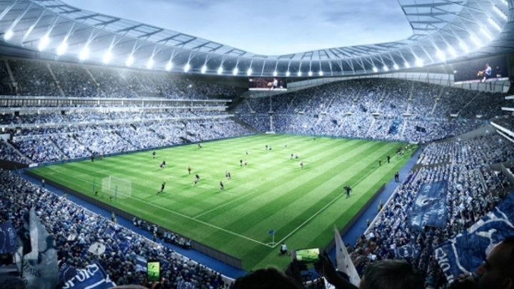 """As this rendering from the Tottenham Hotspur website shows, the team does indeed plan to illuminate the playing field. But the lights won't come from """"official lighting partner"""" Zumtobel, who will be busy with LED lighting in other parts of the sports and entertainment complex. (Image credit: Tottenham Hotspur.)"""
