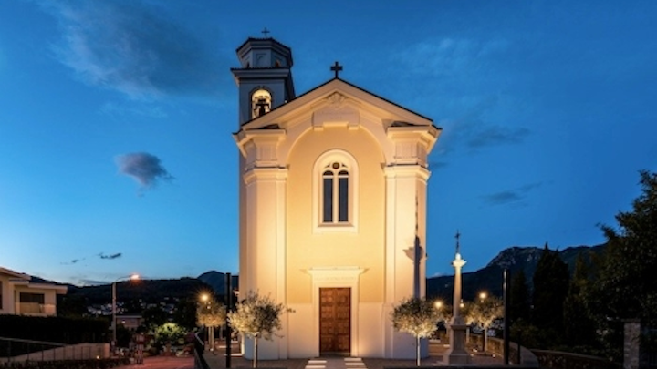 Ancient Church of Porza gets stunning yet non-invasive LED lighting retrofit