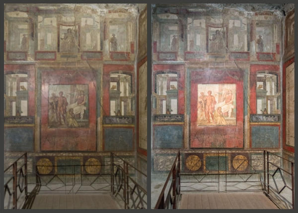SunLike packaged LEDs reveal color and depth in Pompeii ruins' murals