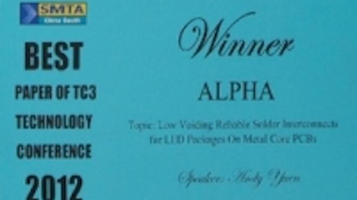 Content Dam Leds En Ugc 2012 10 Alpha Led Technologies Awarded Best Paper At Smta China Leftcolumn Article Thumbnailimage File