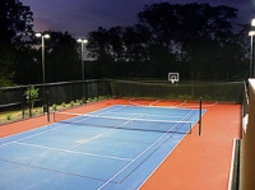 Lsi Industries Supplies Led Tennis Court Lighting System For