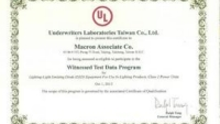 Content Dam Leds En Ugc 2013 11 Macron Lighting Receives Ul Witness Testing Data Program Lab Certificate Leftcolumn Article Thumbnailimage File