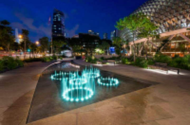 B Light provides futuristic LED lighting scheme for Singapore performing arts center