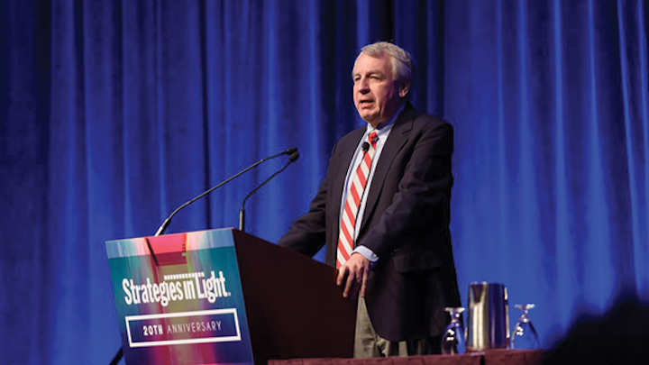FIG 1. Bob Steele presided over his 20th Strategies in Light conference and took a revealing look back at the history of the high-brightness LED.