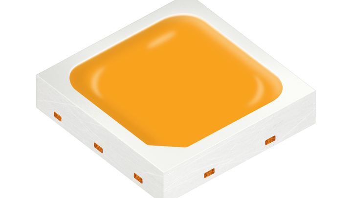 At LightFair, Osram Opto Semiconductors brought quantum dot devices front and center with its new mid-power Osconiq S 3030 QD LED that achieves 173-lm/W efficacy. (Photo credit: Image courtesy of Osram Opto Semiconductors.)