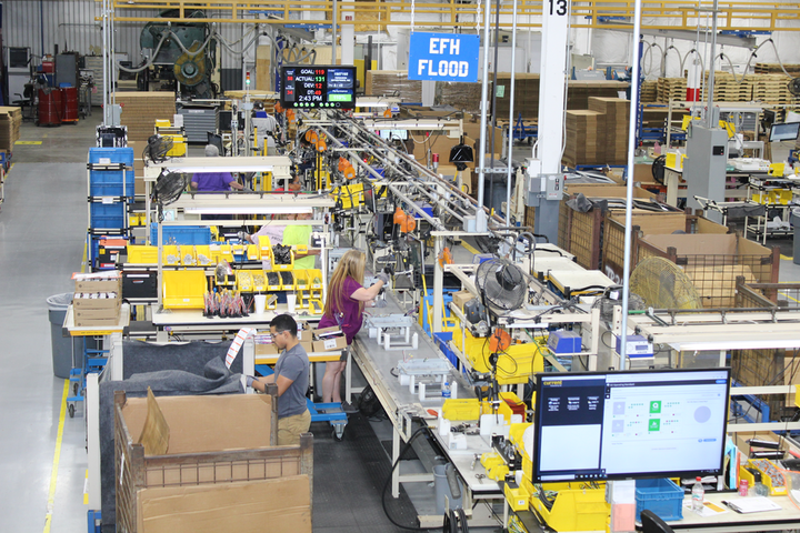 Current's lean manufacturing facility in Hendersonville, NC uses almost modular production line pods to be able to handle the diverse set of orders that passes through the facility. (Photo credits: All images courtesy of Current.)