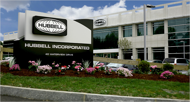 Hubbell is providing its Signify-enabled IPS luminaires through a general services group based at headquarters in Shelton, CT, rather than directly through its Greenville, SC-based lighting group. (Photo credit: Image by user Sureskrishnas on Wikimedia Commons; used under Creative Commons license CC BY-SA 4.0 for editorial purposes - https://commons.wikimedia.org/wiki/File:HubbellHQ1.jpg.)