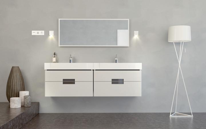 Plug + Light Wall Lights Gira E2 Pure White (1)